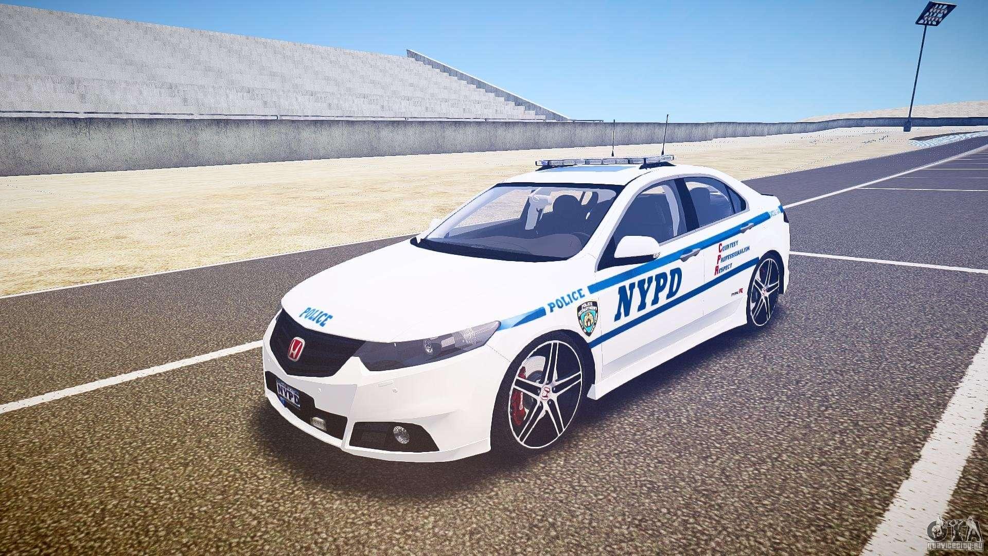 Honda Accord Type R Nypd City Patrol 1090 Els For Gta 4