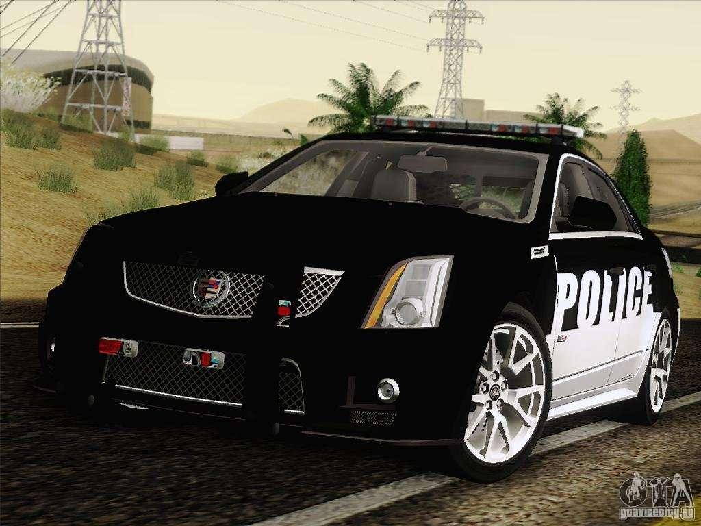 Cadillac Cts V Police Car For Gta San Andreas