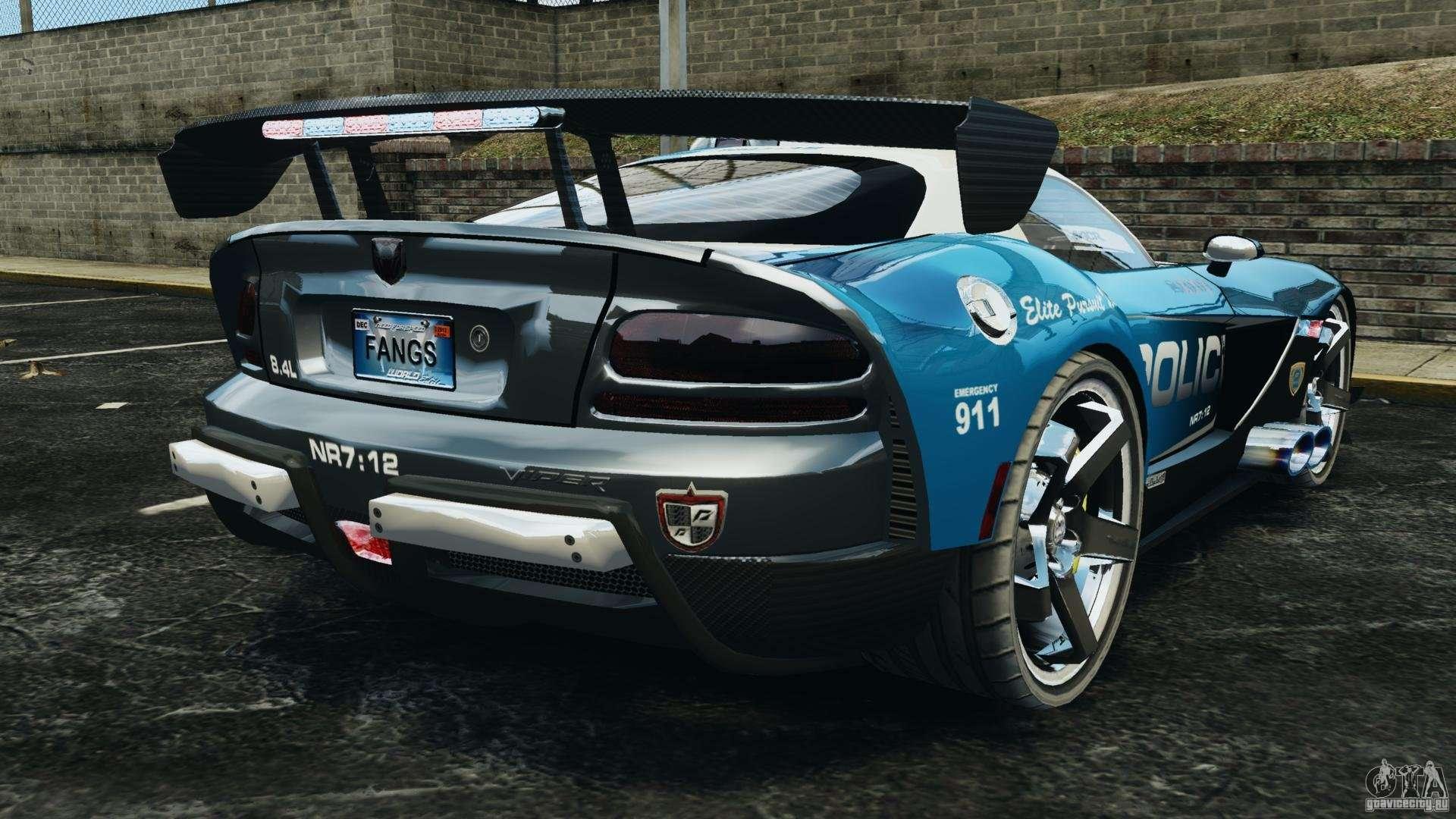 Dodge Viper SRT-10 ACR ELITE POLICE for GTA 4