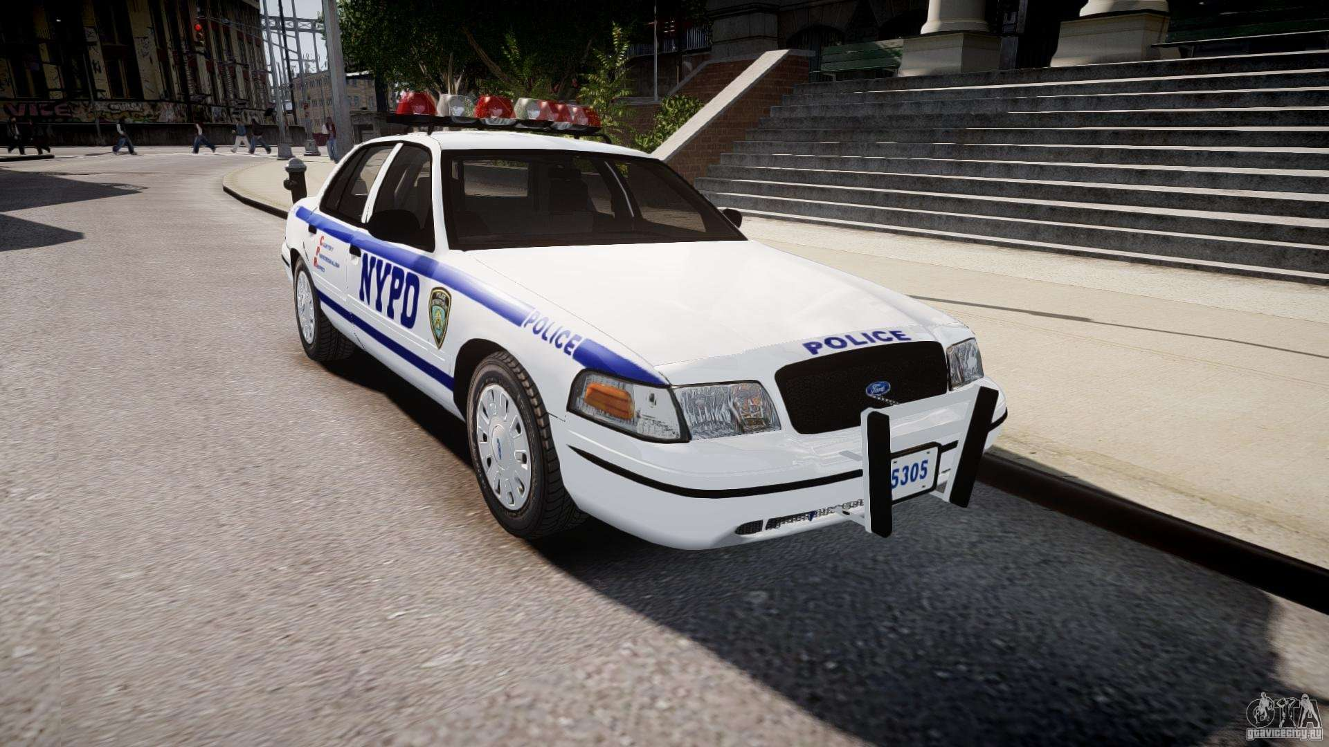 ford crown victoria police department 2008 nypd for gta 4. Black Bedroom Furniture Sets. Home Design Ideas