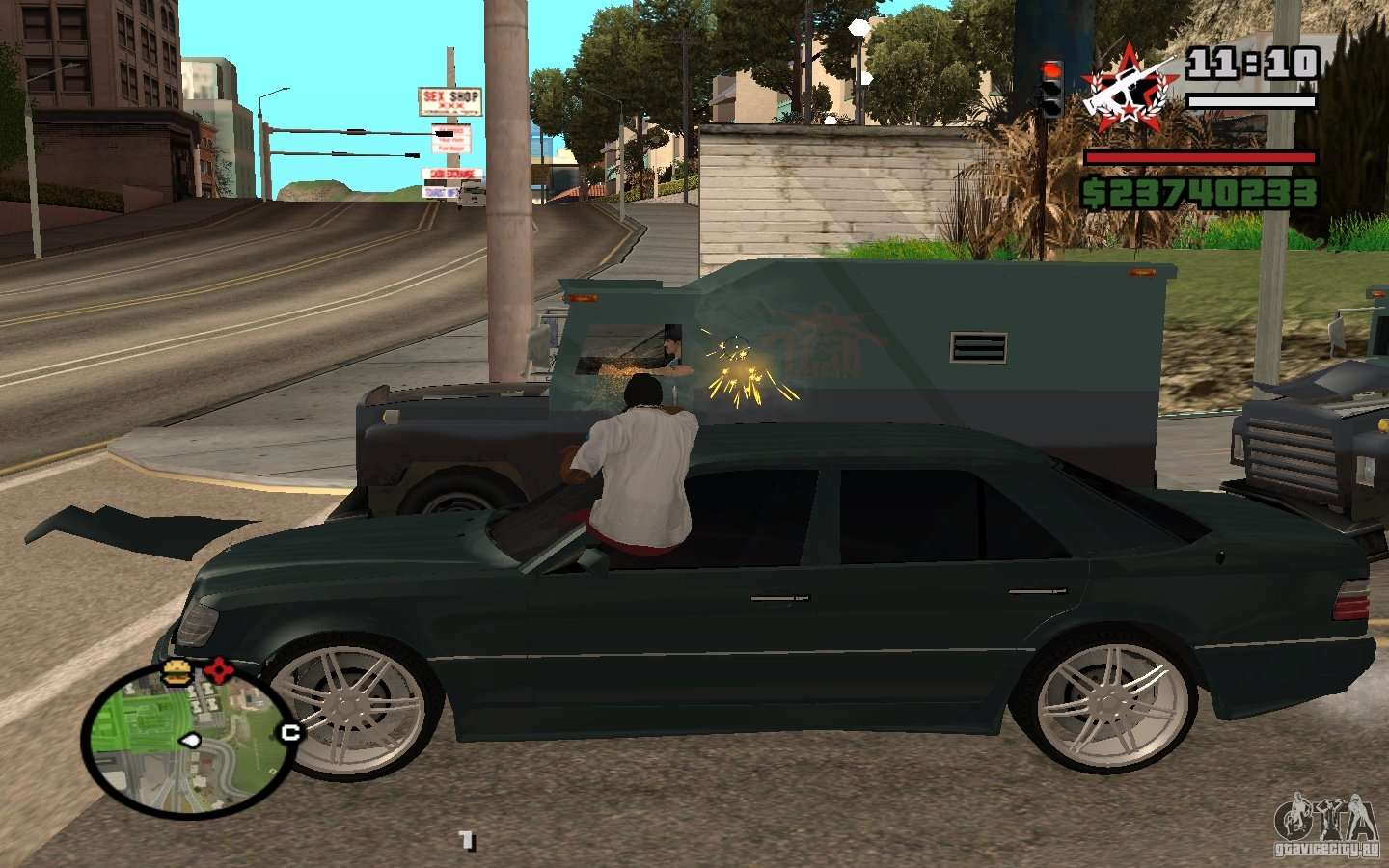 Shoot Out Of The Car In Gta 4 For Gta San Andreas