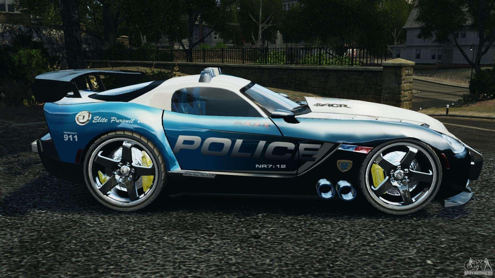 dodge viper srt 10 acr elite police els for gta 4. Black Bedroom Furniture Sets. Home Design Ideas