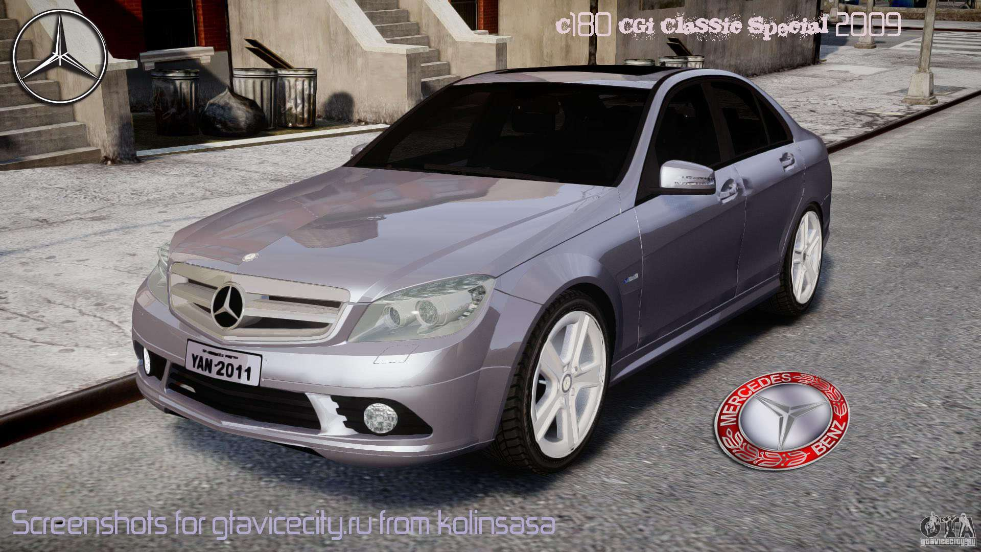 Mercedes benz c180 cgi classic special 2009 for gta 4 for C180 mercedes benz
