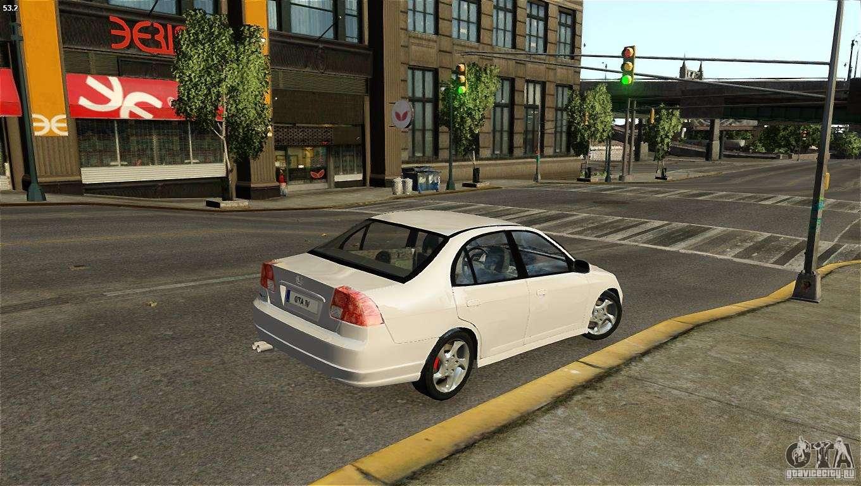 Honda Civic V-Tec for GTA 4 back left view