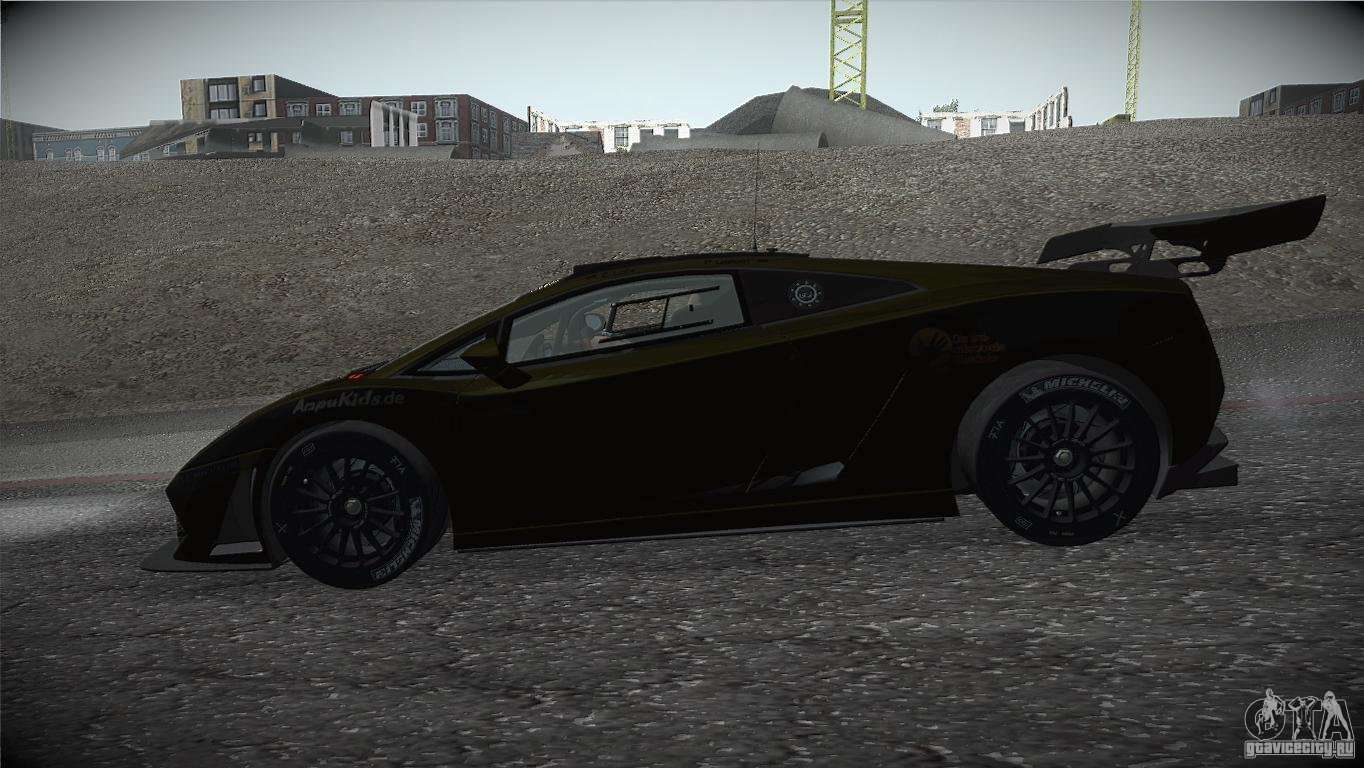Lamborghini Gallardo LP560 4 GT3 For GTA San Andreas Left View