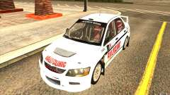 Mitsubishi Lancer Evo IX in the new vinyl for GTA San Andreas