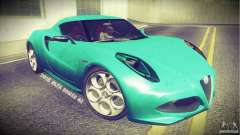 Alfa Romeo 4C V1.0 2013 for GTA San Andreas