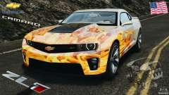 Chevrolet Camaro ZL1 2012 v1.0 Flames for GTA 4