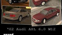Audi A8 Long 6.0 W12 2002 for GTA San Andreas