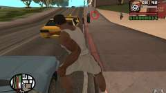 Knife throwing for GTA San Andreas