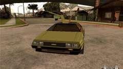 Golden DeLorean DMC-12 for GTA San Andreas