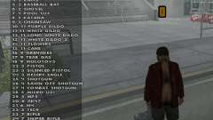 Weapon hacks for GTA San Andreas