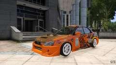 Subaru Impreza WRX STi GDB Team Orange for GTA 4