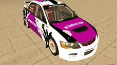 Mitsubishi Lancer Evo IX in the new vinyl