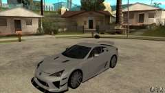 Lexus LFA 2010 for GTA San Andreas
