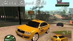 Skoda Superb TAXI cab for GTA San Andreas