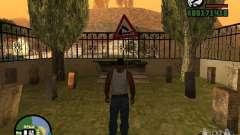 Road sign for GTA San Andreas