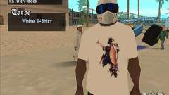 A t-shirt with a picture of Michael Jackson for GTA San Andreas