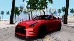 Nissan GTR 2011 Egoist (version with dirt) for GTA San Andreas