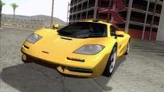 McLaren F1 yellow for GTA San Andreas