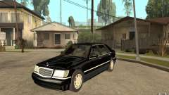 Mercedes-Benz S600 V12 W140 1998 V1.3 for GTA San Andreas