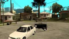 "LADA 2170 ""priora"" Light tuning + trailer for GTA San Andreas"