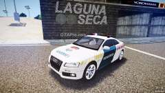 Audi S5 Hungarian Police Car white body