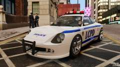 Comet white Police for GTA 4