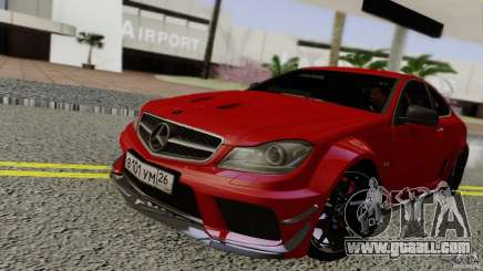 Mercedes Benz C63 AMG Black Series 2012 for GTA San Andreas