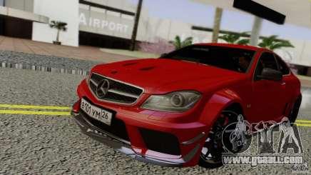 Mercedes Benz C63 AMG Black Series 2012 for GTA San Andreas