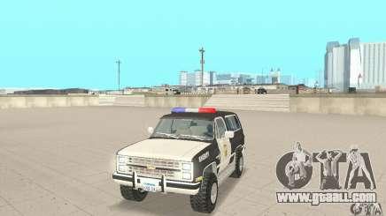 Chevrolet Blazer Sheriff Edition for GTA San Andreas