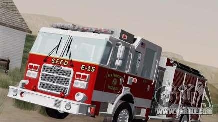 Pierce Pumpers. San Francisco Fire Departament for GTA San Andreas