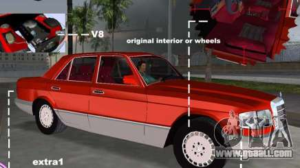 Mercedes-Benz W126 500SE for GTA Vice City