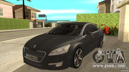 Peugeot 508 2011 EU plates for GTA San Andreas