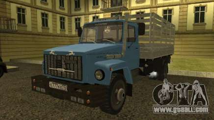 GAZ 3309 turquoise for GTA San Andreas