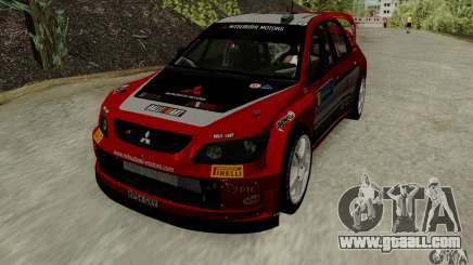 Mitsubishi Lancer Evolution VIII WRC for GTA San Andreas