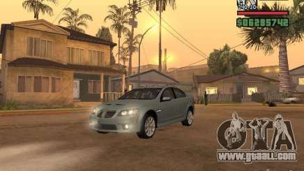 Pontiac G8 GXP for GTA San Andreas