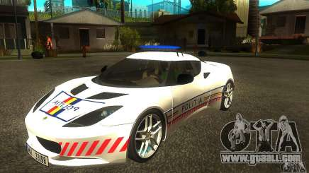 Lotus Evora S Romanian Police Car for GTA San Andreas