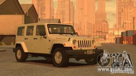 Jeep Wrangler Unlimited Rubicon 2013 for GTA 4