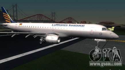 Embraer ERJ 190 Lufthansa Regional for GTA San Andreas
