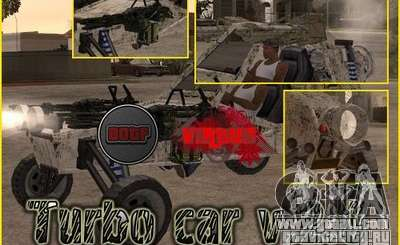 Turbo car v.2.0 for GTA San Andreas