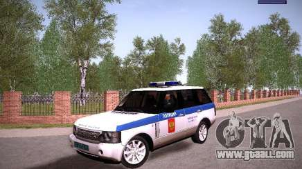 Range Rover Supercharged 2008 Police DEPARTMENT for GTA San Andreas