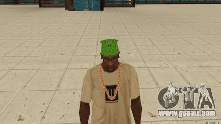 Bandana green maryshuana for GTA San Andreas