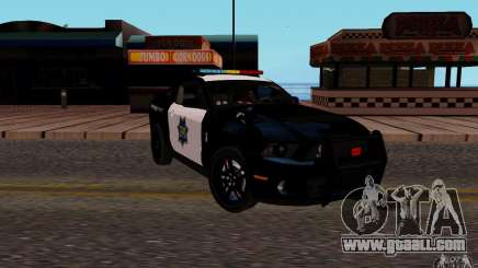 Ford Shelby Mustang GT500 Civilians Cop Cars for GTA San Andreas