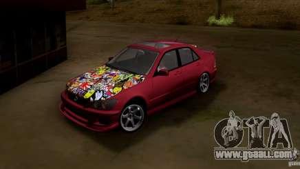 Lexus IS300 Hella Flush for GTA San Andreas