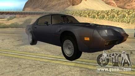 Pontiac Firebird Trans Am Turbo 1980 for GTA San Andreas