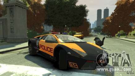 Lamborghini Reventon Police Hot Pursuit for GTA 4