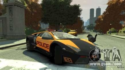 Lamborghini Reventon Police Hot Pursuit for GTA 4