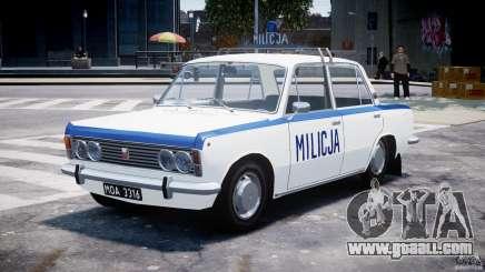 Fiat 125p Polski Milicja for GTA 4