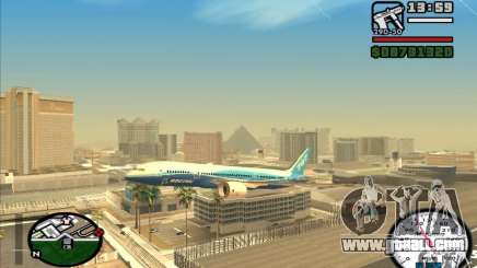 Boeing 787 Dreamlinear for GTA San Andreas
